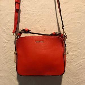 Calvin Klein Red Orange Crossbody Bag